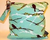Wet Bag or Eco-Bag with Snap Handle  - Waterproof - Plum Sparrows