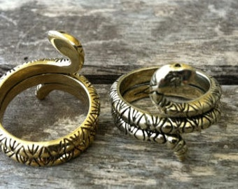 Brass RattleSnake Ring