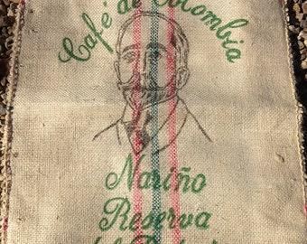 Burlap/Jute Coffee Sack, Bag (Colombia)