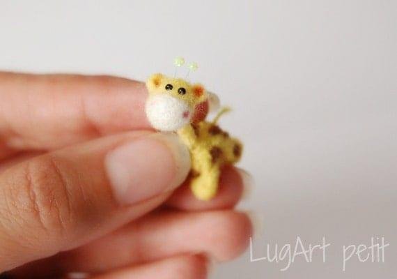 Tiny needle felted Giraffe