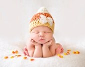 Baby Candy Corn Hat - Fall Autumn Hat- Halloween Hat- Photography Prop - Baby Girl