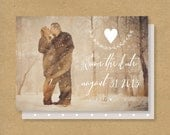 Calligraphy Save the Date Cards -- Printable -- Double Sided or Postcard