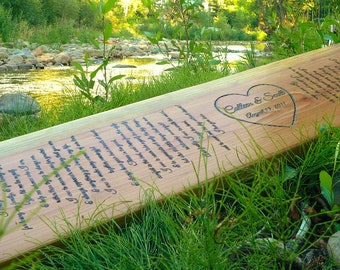 """Anniversary or wedding gift personalized with vows or extra detailing two person tree swing EXTRA LARGE 46-48"""""""