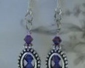 Swarovski Crystal Dangle Earrings - OOAK