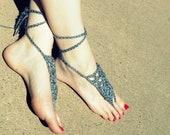 Grey Crochet Barefoot Sandal