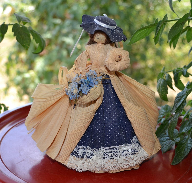 Corn Husk Doll Nan S Cornhusk Vintage 1986 Lady