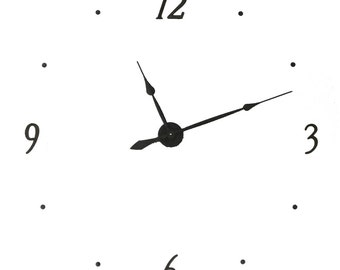 "KIT40 Extra Large Wall clock KIT makes 40 inch wall clock  with 4"" metal numbers (12, 3, 6, 9)"
