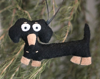Super Cute Dachshund Wiener Dog Ornament