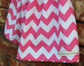 Chevron Stripe Toddler Skirt Pink and White, Baby Girl Skirt, Handmade Skirt, Chevron Skirt