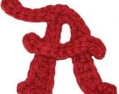 "Alabama ""A"" Crochet Applique Pattern (Instant Download)"