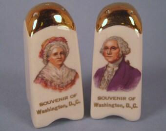 George and Martha Washington Salt and Pepper