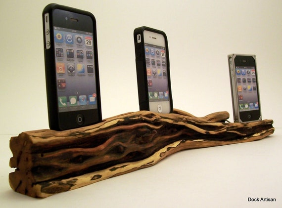 Triple iPhone Charging Station in Chapparal Wood- ICN314