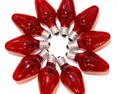 Vintage Christmas Bulbs - Red