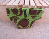 Baby Doll Diaper - Green Football Print - Size Large