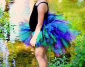 Peacock Bustle Tutu - Newborn Baby 3 6 9 12 18 24 Months 2T 3T 4T 5 6 7 8 10 12 14 Adult - Trendy Birthday - Halloween Costume Ready To Ship