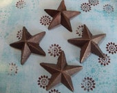 Magnets Set of 4 Rustic Cast Iron Star Magnets