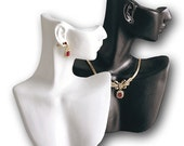 "Necklace Earring Combination Combo Countertop Figurine Bust Display 7"" x 9""H"