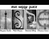 DISNEY Art Print - Our Happy Place - The Ultimate Disney Fan Gift 10 by 20 (Ready to Ship)