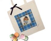 Shabby Chic French Rabbit Tote Bag, Diaper Bag, Shopping Bag, School Bag