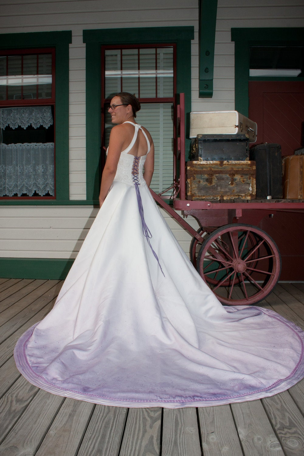 Upcycled Steampunk Clothing Lilac Wedding Gown By