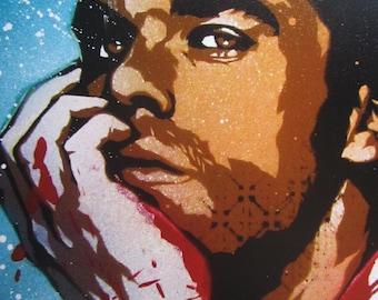 Dexter Stencil Art Print