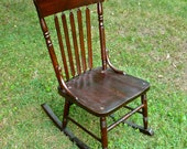 Armless Sewing Rocking Chair Antique Wood Antique Chair seating
