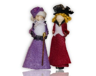 Downton Abbey Clothespin Doll Ornament Kit: Lady Violet and Lady Edith
