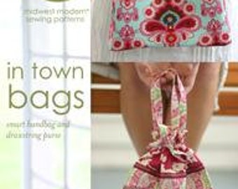 Amy Butler Sewing Patterns, Purse Sewing Pattern,  In Town Bags Sewing  Pattern