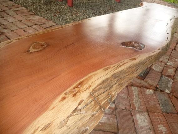 Live Edge Solid Hardwood Cedar Wood Slab Natural Color Table