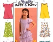 Butterick B4716  OOP  Toddler  Child Sz  CB  1  2  3  Toddler   Little Girls Dresses fast  and EASY
