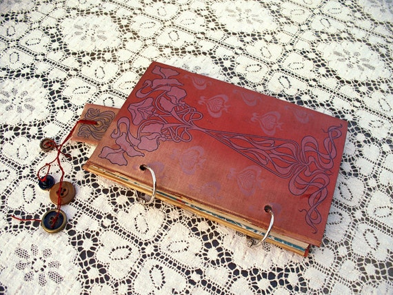 UP-cycled Recycled Handmade Journal Blank Pages Travel Journal Blank Book