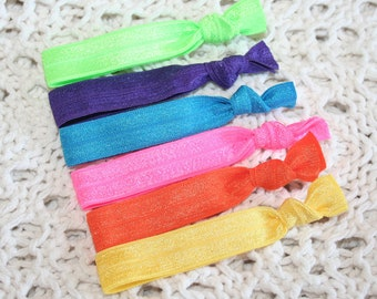 You Choose 15 Elastic Hair Ties - Over 50 Colors - Casual or Professional - School/ Team Colors - Anthropologie Inspired - SHIPS IMMEDIATELY