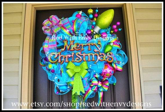 Christmas Wreath, Christmas, Wreath, Christmas Decor, Christmas Decoration, Whimsical Wreath, Whimsical Decor, Whimsical Decoration