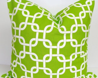 GREEN PILLOW.16x16 inch.Pillow Cover.Decorative Pillows.Green Pillow Cover.Housewares.Green Pillow.Green Cushion.cm.Bright.Lime Green Pillow