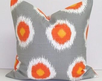 PILLOW DECOR.Home Decor.Decorative Pillow Cover.18x18 inch.Housewares.Home Decor.Cushions.Grey Cushion.Cm.Orange.Throw Pillow Cover.cm.Grey