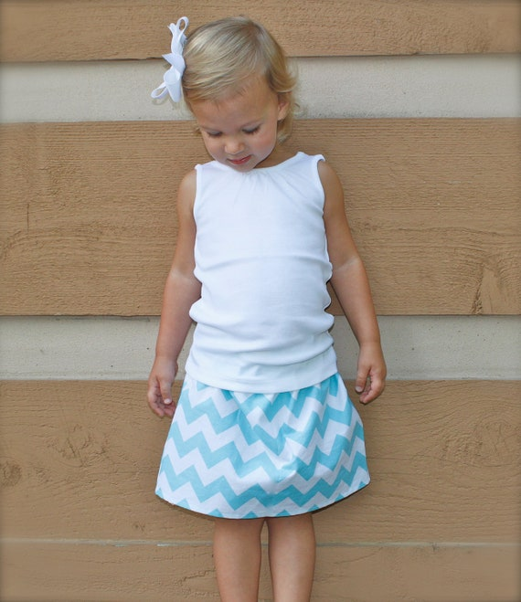 girls toddler riley blake CHEVRON a-line SKIRT sizes 12mo, 2, 3, 4, 5 many colors