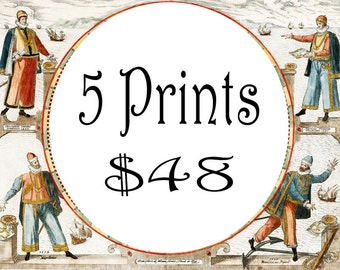 Any 5 Prints up to 8x11 inch for usd 48, Save up to usd 17, Promo pack, Discount, Sale