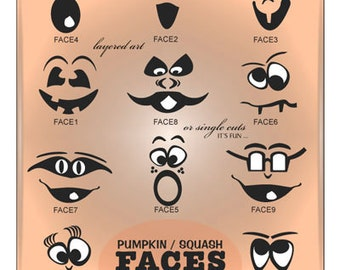 Backyard Halloween Pumpkin face Decals