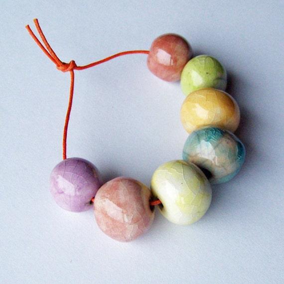Raku beads, handmade ceramic beads, made in South Africa