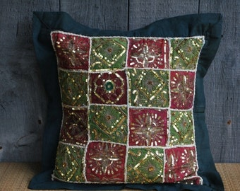 vintage pillow / cushion cover from India