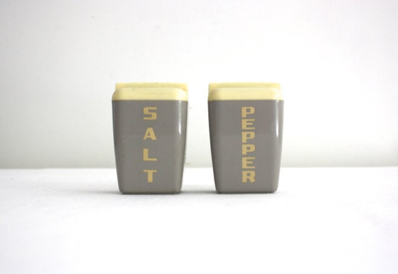 Gray Salt and Pepper Shakers