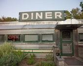 Roadside Diner photo, vintage, Americana, Country Diner - 8x10 fine art photograph