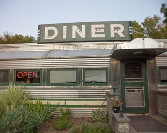 Roadside Diner photo, vintage, Americana, Country Diner - 8x10 fine art photograph