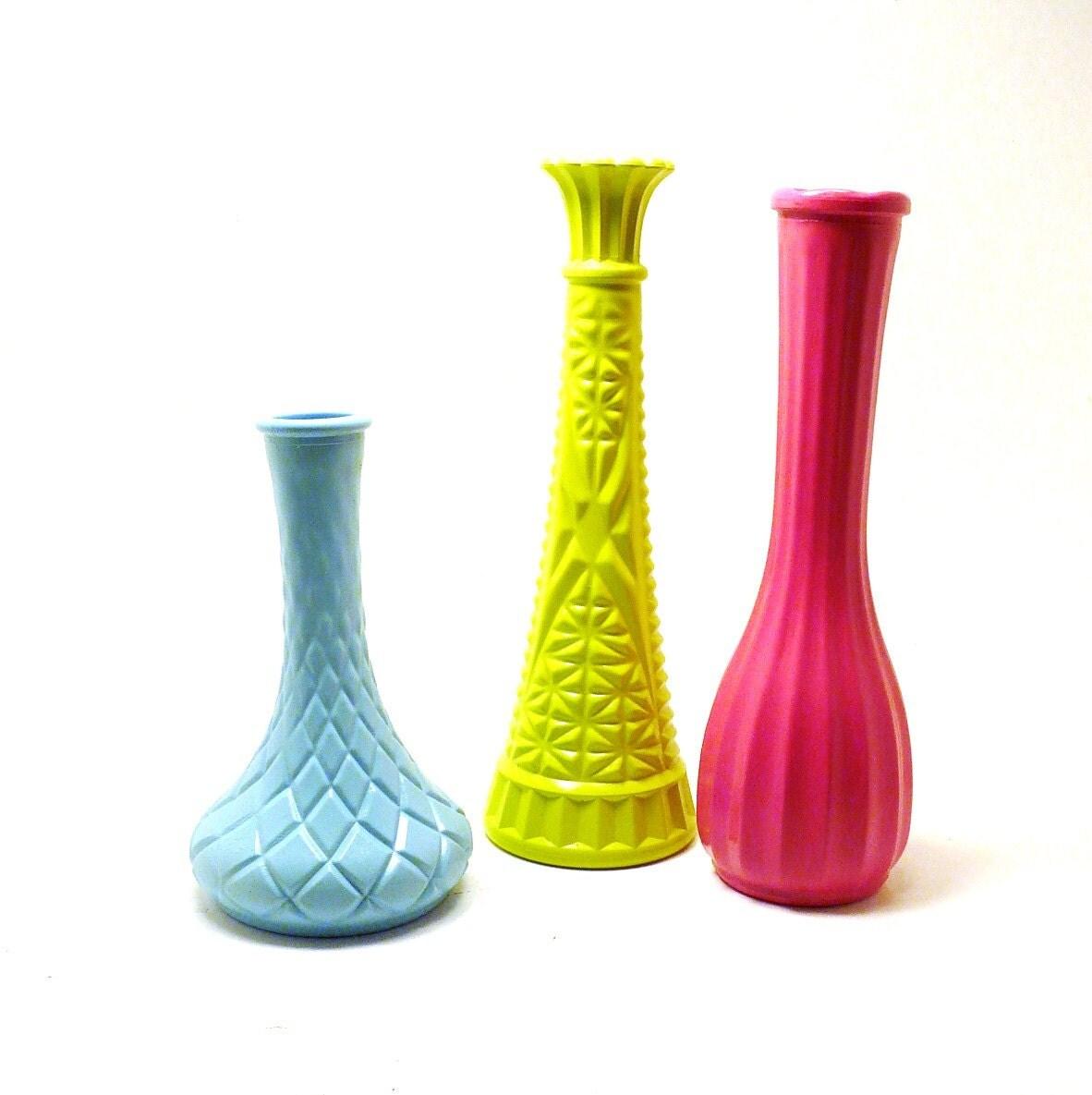 vintage milk glass vases upcycled vase collection by. Black Bedroom Furniture Sets. Home Design Ideas