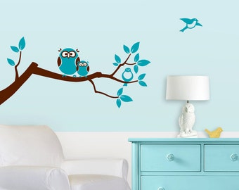 Owl Tree Branch Wall Decal - Match Owl Crib Bedding in Your Nursery
