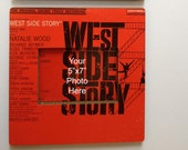 West Side Story // Original Vinyl Album Cover Pic. Frame // up cycled wall art