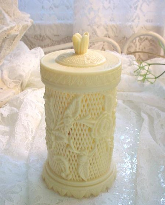Vintage Hors D'Oeuvres Serving Picks Roses Canister Cottage Chic