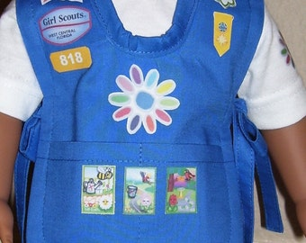 18 Inch Doll Clothes - Daisy Girl Scout Tunic