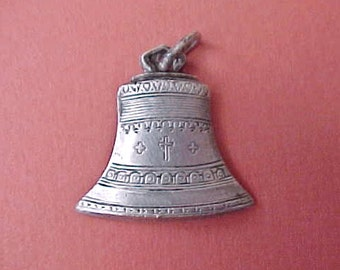 Charming and Unusual French Sterling Silver Bell Shaped Charm-Cathedral of Montmartre