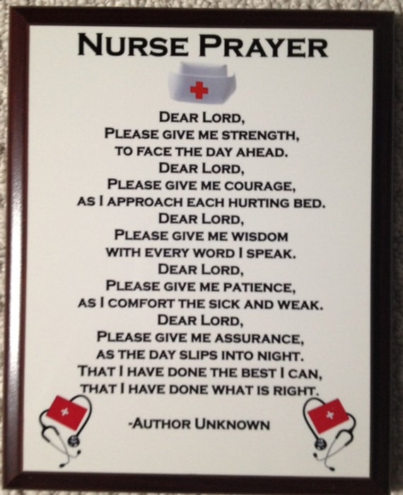 Nurse Prayer Plaque by BLCustomCreations on Etsy